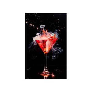 TABLEAU - TOILE Tableau deco design Cocktail Rouge DECLINA 50x80 R