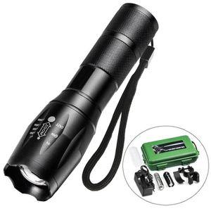 LAMPE DE POCHE Juce® Lampe Torche LED Puissante Zoomable et Recha
