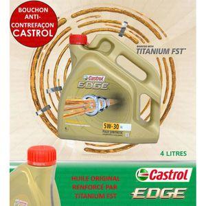 HUILE MOTEUR 4 LITRES CASTROL EDGE 5W30 LONGLIFE TITANIUM FST