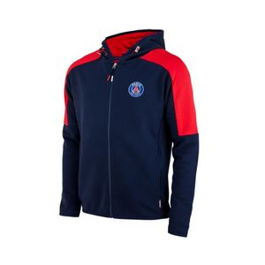 TENUE DE FOOTBALL Veste à capuche PSG Bleu-Rouge Junior