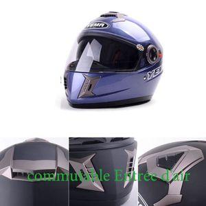 R/étro-/éclairage Casque de Protection VTT Moto R/églable TOMSHOO Casque de V/élo Unisexe avec Visi/ère de Protection Amovible