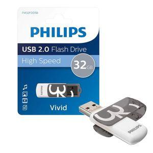CLÉ USB PHILIPS - Clé USB - Vivid - 32 Go - USB 2.0