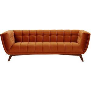 CANAPÉ - SOFA - DIVAN Canapé Mona 3 places en velours orange