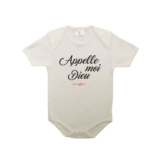 Mygoodprice T-Shirt col Rond Appelle Moi Dieu