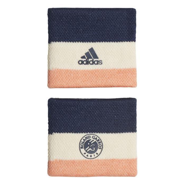 Serre-poignets Roland Garros - beige/orange pastel/bleu marine - M
