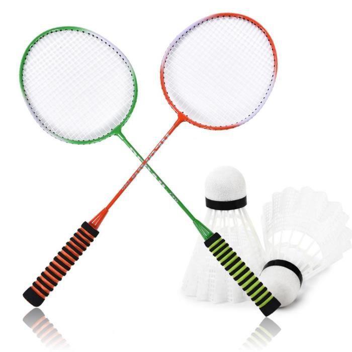 Raquettes de formation de raquette de badminton en alliage d'acier haute poignée en éponge élastique avec sac