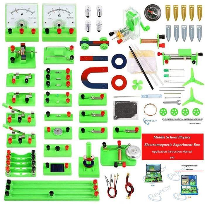 Experiences scientifiques Enfants,Circuit Électrique Kit Experiences scientifiques Enfants,kit electronique Enfant,Science Éducati