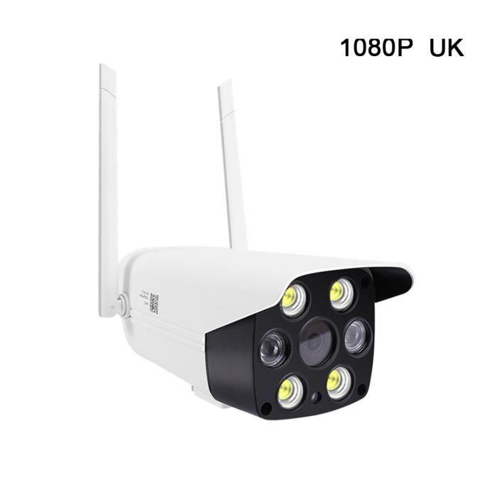 BABY PHONE - ECOUTE BEBE,Caméra IP sans fil HD Étanche pour l'extérieur, lampe à infrarouge 1080P, Vision nocturne- Type Bleu