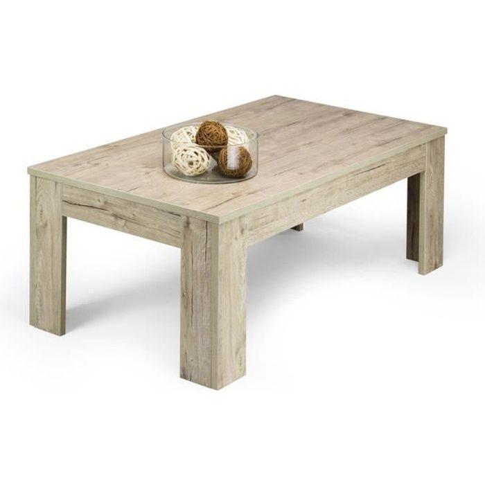 Mobili Fiver, Table basse, Easy, Chêne naturel, Mélaminé, Made in Italy