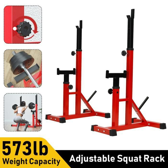 Squat Rack Réglable Fitness Support Pour Haltères Charge MAX 260 kg