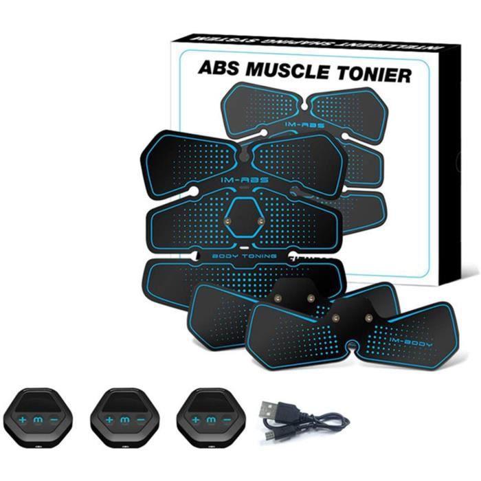 DGDD Ceinture Abdominale Eacutelectrostimulation EMS Electrostimulateur Musculaire, 6 Modes 10 Niveaux pour-Bras-Jambes-Fessier Fe