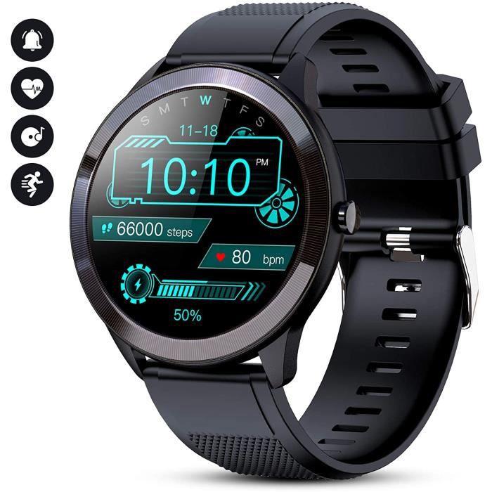 GOKOO Montre Connectée Homme Smartwatch Sport Etanche Bracelet Connecté Cardiofréquencemètre Podomètre Fitness Tracker d'Activité Mi