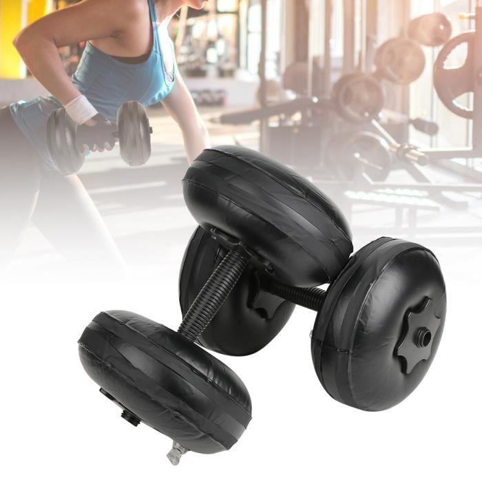 Haltères réglables Haltères à eau Poids du matériau en PVC 8-10 kg Dôme d'entraînement musculaire du bras écologique pour la