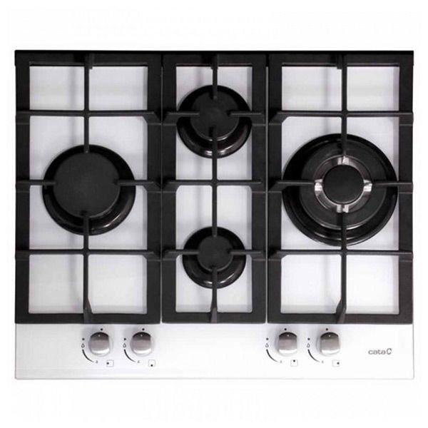 Plaque au gaz Cata 201168 9200W 60 cm Noir Blanc Verre