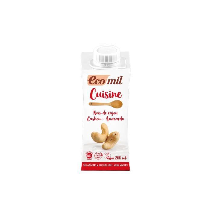 Crème cuisine aux noix de cajou - Ecomil - 20cl