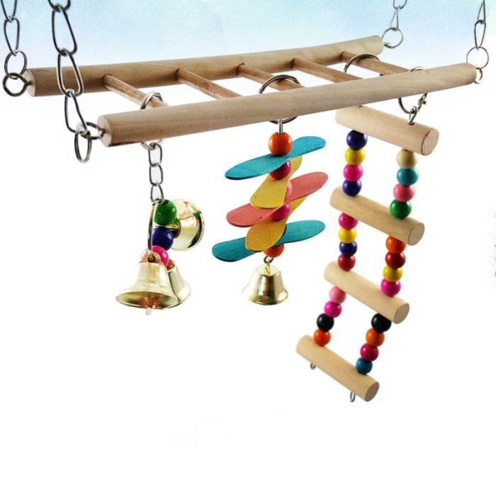 DES OISEAUX PERCHÉES Relaxant Pour Coloré Perroquets Oiseaux Swing balancoire - portique jeux de recre - jeux d'exterieur
