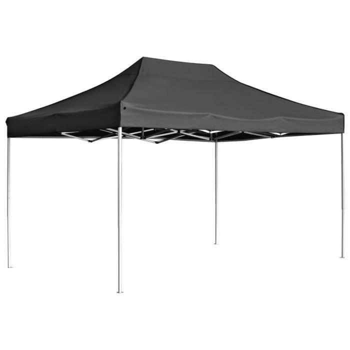 MAGIC Tente de réception pliable Aluminium 4,5x3 m Anthracite