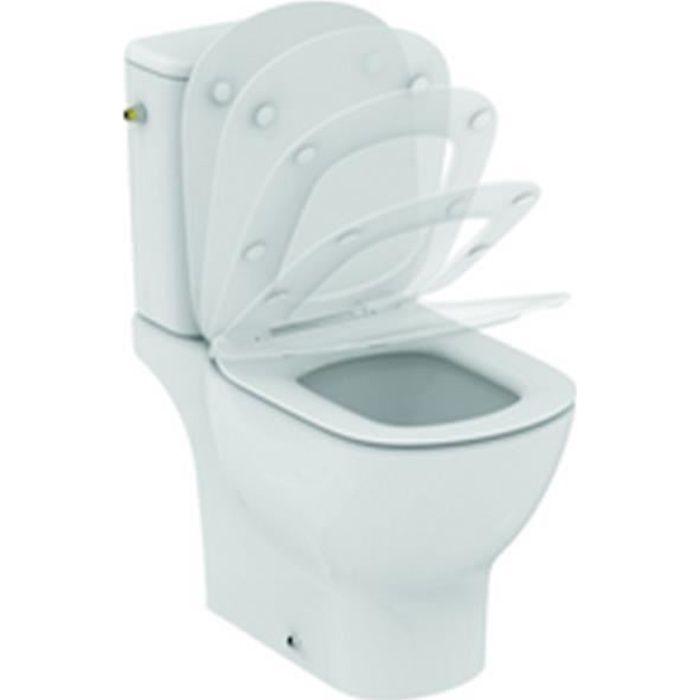 Ideal standard Pack wc sur pied Tesi Aquablade sortie horizontale abattant ultrafin frein de chute réf T033601