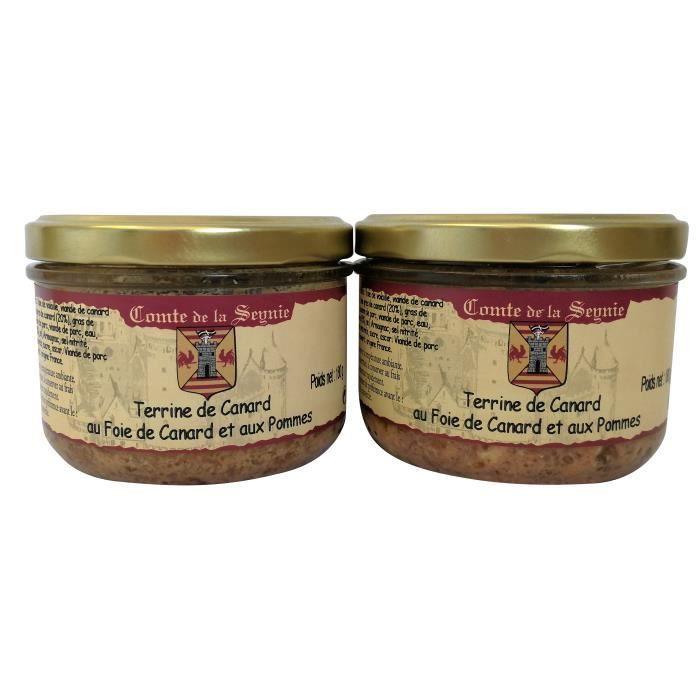 Terrine de Canard au Foie de Canard et Pommes - 2 x 180 g