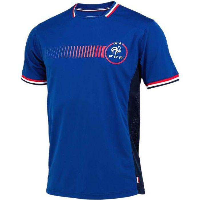 Maillot de Foot Homme Équipe de France 2 Etoiles - Bleu (L)