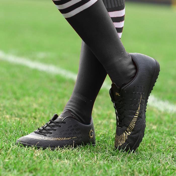 Chaussures de football pour hommes Chaussures de football avec chaussures à jambes basses pour le sport Noir