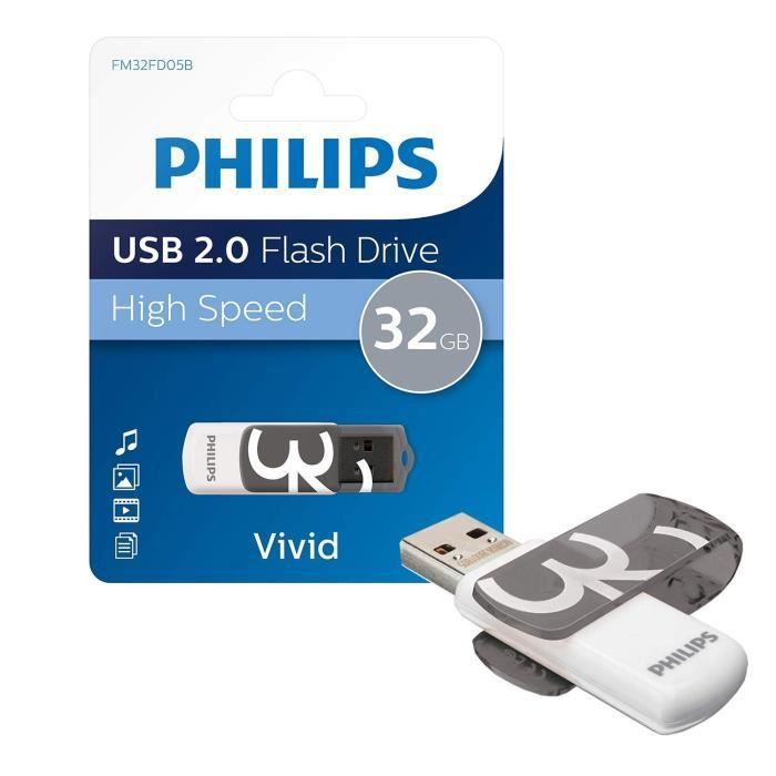 PHILIPS - Clé USB VIVID - 32 Go