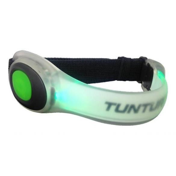 TUNTURI Armlight Bracelet réfléchissant LED Vert