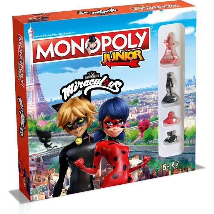 MONOPOLY JUNIOR - Miraculous Ladybug - Jeu de société - Version française