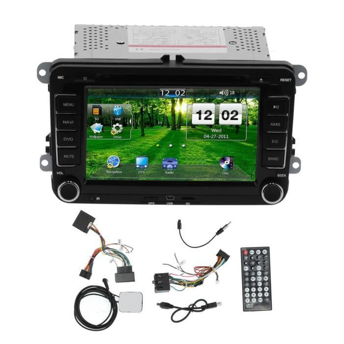 YOSOO Autoradio Lecteur DVD de Voiture 2DIN 7 po Navigation GPS Tactile pour Seat Altea/Toledo/Leon ab/Altea XL ab/Alhambra ab