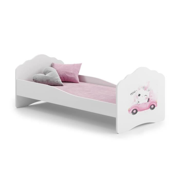 lit enfant fille avec matelas achat vente lit enfant. Black Bedroom Furniture Sets. Home Design Ideas