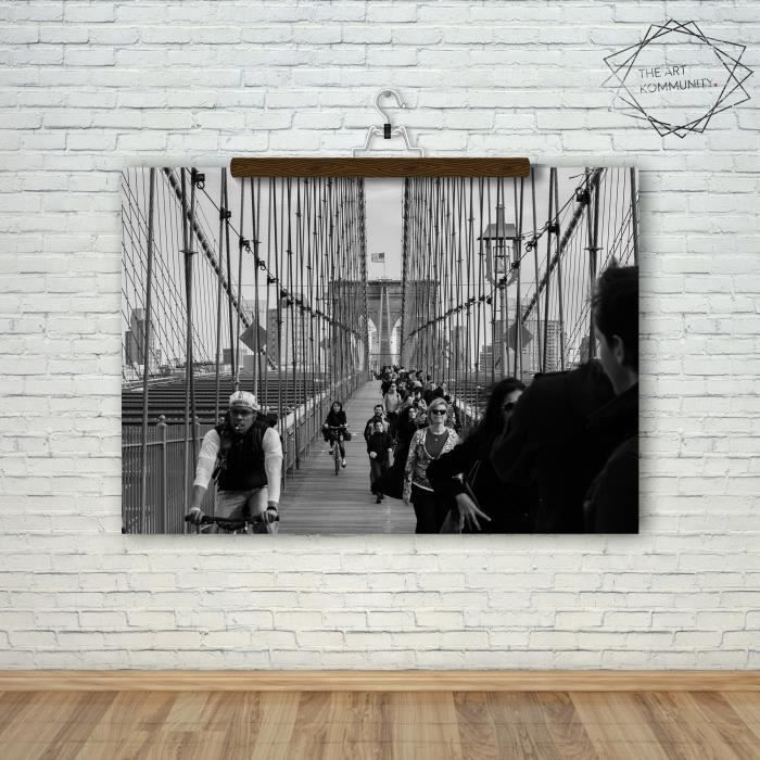 poster photo format a4 noir et blanc le pont de. Black Bedroom Furniture Sets. Home Design Ideas