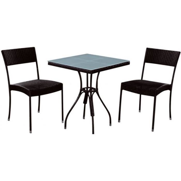 table de jardin carr e achat vente salon de jardin table de jardin carr e cdiscount. Black Bedroom Furniture Sets. Home Design Ideas
