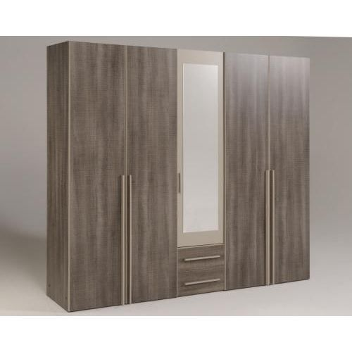 axel armoire 5 portes r glisse mastic l226 cm achat. Black Bedroom Furniture Sets. Home Design Ideas