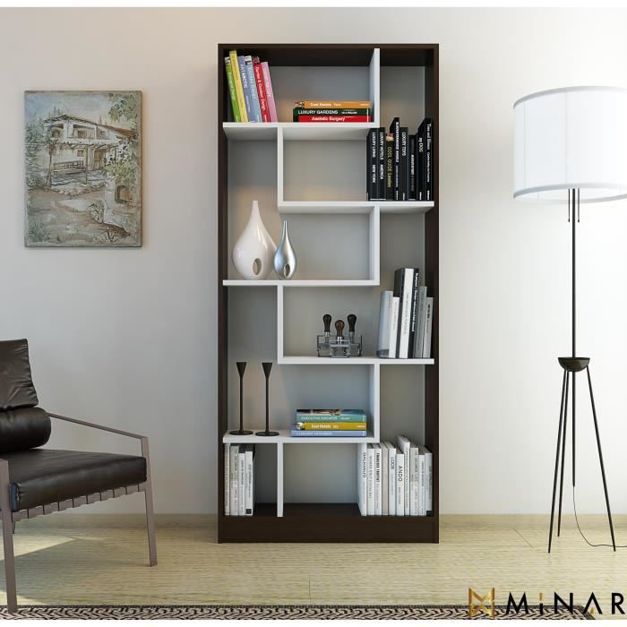 minar riga biblioth que achat vente biblioth que minar riga biblioth que cdiscount. Black Bedroom Furniture Sets. Home Design Ideas