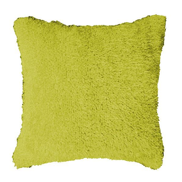 Coussin Imitation Fourrure Flashy 40x40 Anis Achat Vente Coussin Cdiscount