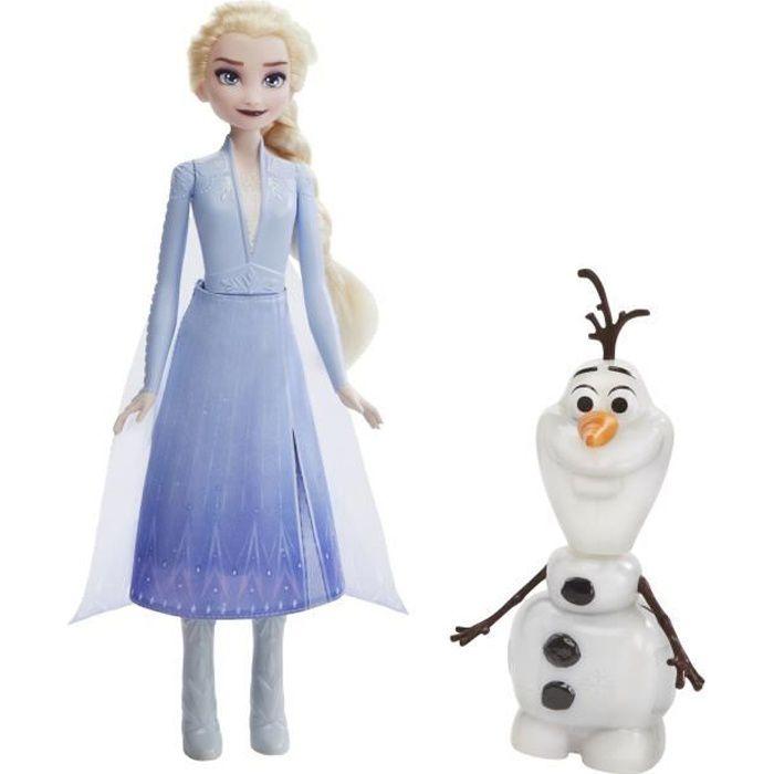 Disney La Reine des Neiges 2 Poupée Princesse Disney Elsa et Olaf intéractifs