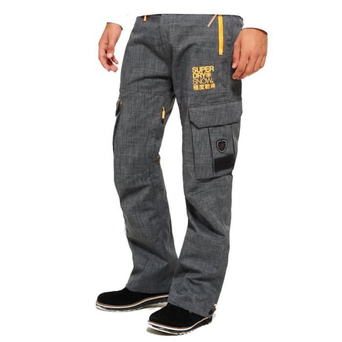 pantalon de ski superdry snow pant grey marl prix pas. Black Bedroom Furniture Sets. Home Design Ideas