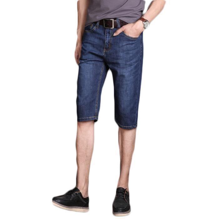 Pantacourt Homme en jean 27 D bleu marin