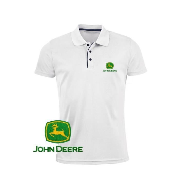John Deere Logo brod/é pour Homme