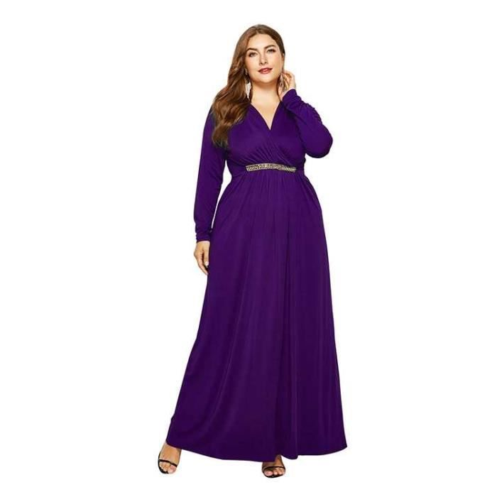 Robe De Soiree Longue Femme Grande Taille Achat Vente Pas Cher