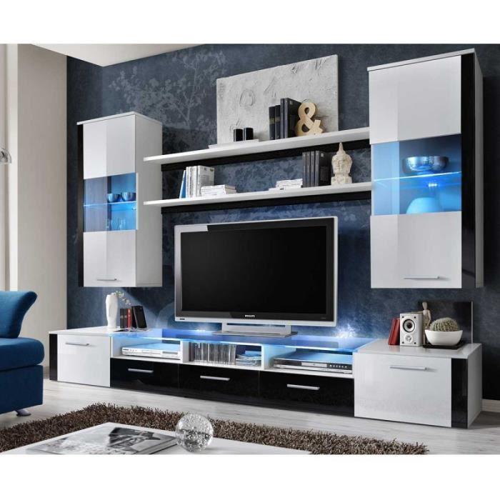 Paris Prix Meuble Tv Mural Design Fresh 250cm Blanc Noir