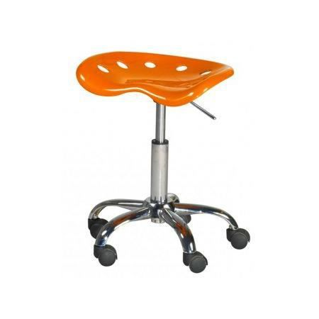 tabouret roulettes orange miky achat vente tabouret. Black Bedroom Furniture Sets. Home Design Ideas