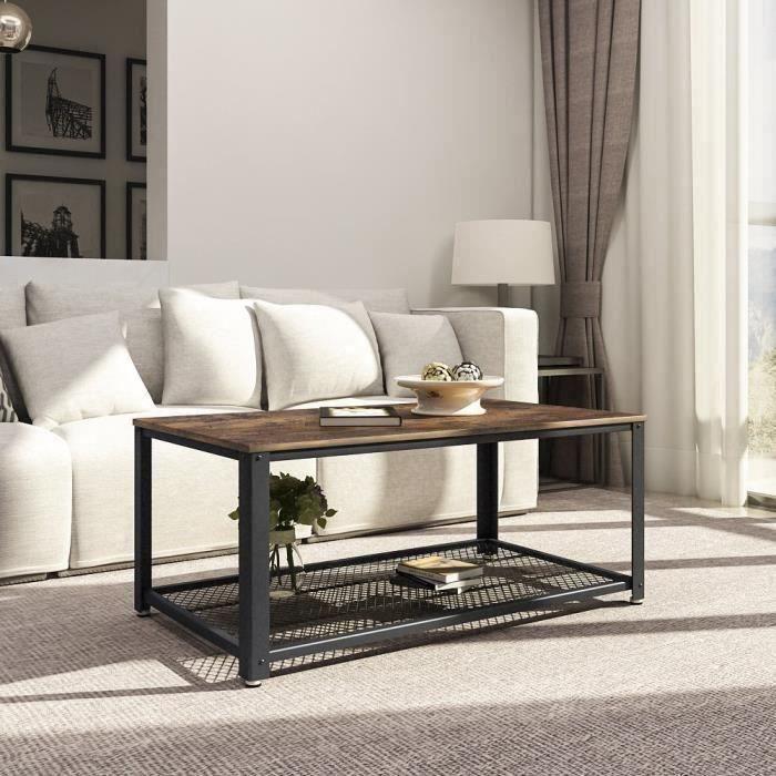 TABLE BASSE SONGMICS® Table basse LCT61X - Armature en métal -