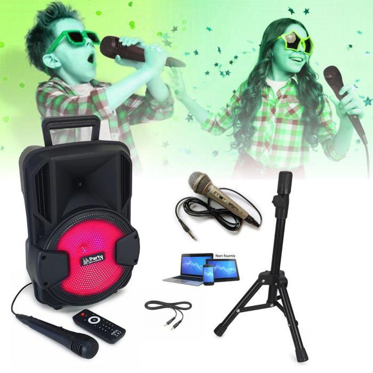MICRO - KARAOKÉ 2 MICROS + ENCEINTE KARAOKE SONO + USB MP3 BLUETOO