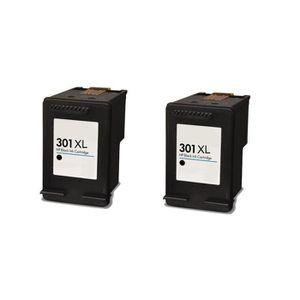 CARTOUCHE IMPRIMANTE 2 Noir Compatible Encre Cartouche pour HP 301 XL D
