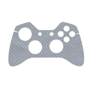 STICKER - SKIN CONSOLE Sticker aspect carbone Gris pour manette Xbox One
