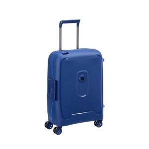 VALISE - BAGAGE Valise cabine slim Bleu 4 roues doubles 55 cm -col