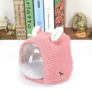 BONNET - CAGOULE Chapeau Bonnet Tricot Cache Oreille Enfant 2-8 ans