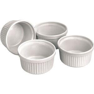 RAMEQUIN - RAVIER Lot de 4 ramequins en ceramique. Diametre 9 cm - H