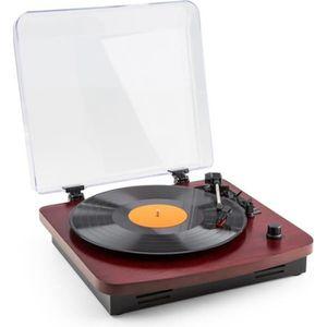 PLATINE VINYLE auna TT370 - Tourne-disque platine vinyle rétro av